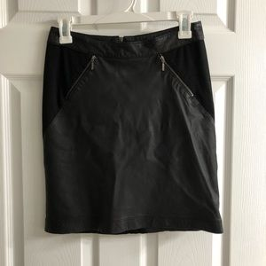 Silence + Noise faux leather and suede skirt.